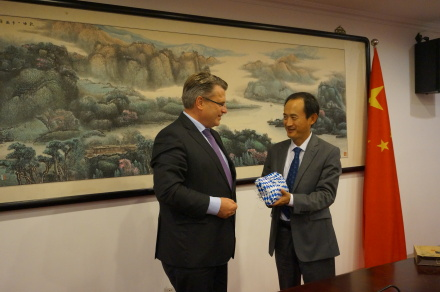 All China Lawyers Association - v.l.: Bayerns Justizminister Bausback, Vizepräsident Zhang Xuebing