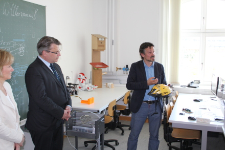 Besuch Hochschule Amberg Justizminister Bausback